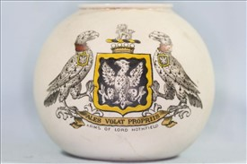 Photo:Goss crested match holder with the Arms of Lord Hothfield
