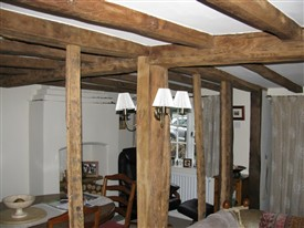 Photo:Forge Cottage has a wealth of beams