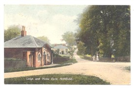 Photo:The unusual gatehouse on Waterfall Road pictured c1920