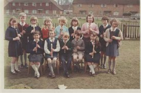 Photo:Helen Foreman's class at Hothfield Primary School 1966 - can you name them?