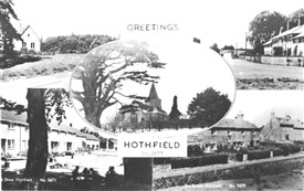 Photo:Postcard showing five views of Hothfield pre 1962